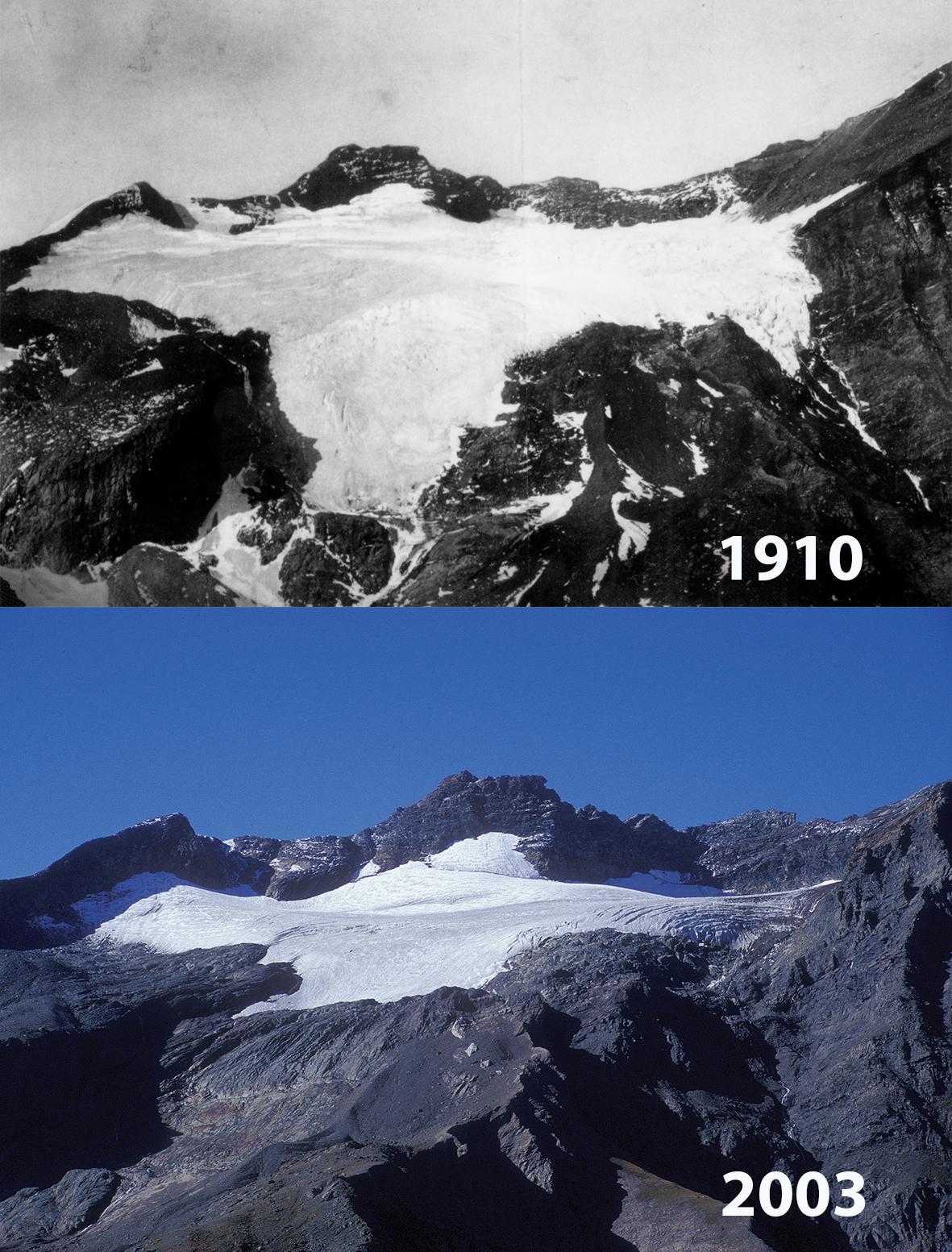 Glacier de Ciamarella: 1910 - 2003