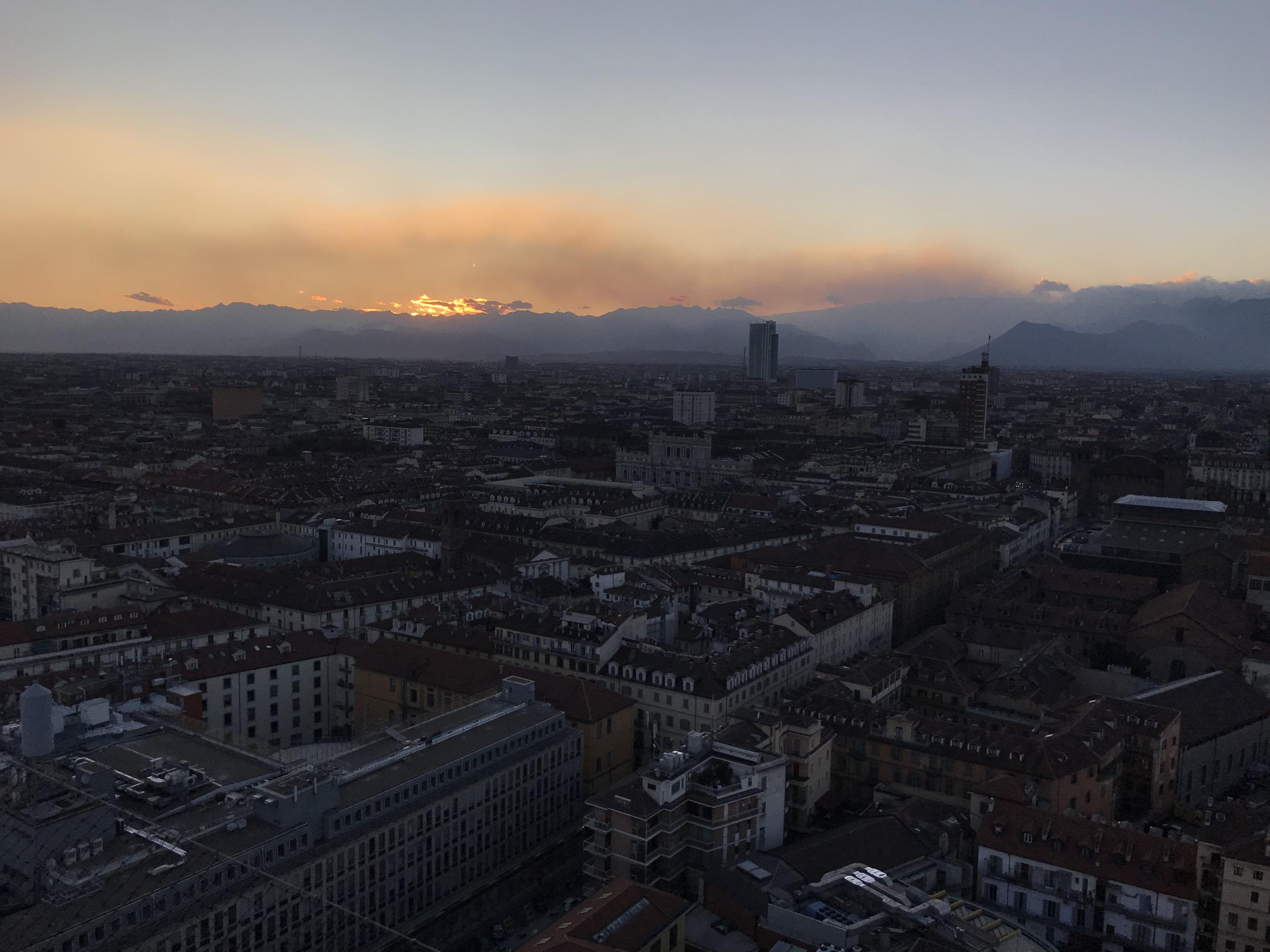 Feux de fumée sur Torino