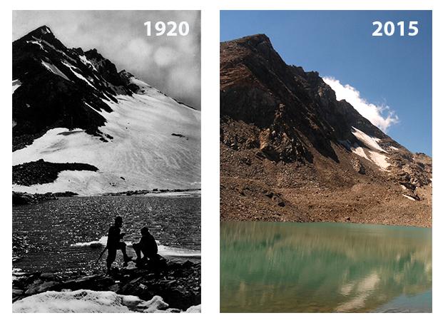 Glacier de l'agneau, Val Susa: 1920 - 2015